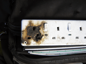 Burnt Out Plug Socket